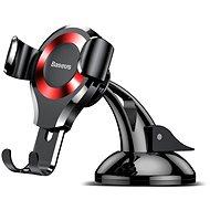 Držák na mobilní telefon Baseus Osculum Type Gravity Car Holder Black/red