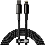 Baseus Tungsten Gold Fast Charging Data Cable Type-C to Lightning PD 20W 2m Black - Datový kabel