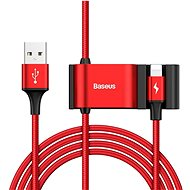 Baseus Special Lightning Data Cable + 2x USB for Backseat of Car Red - Datový kabel