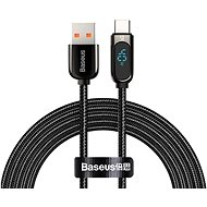 Baseus Display Fast Charging Data Cable USB to Type-C 5A 1m Black