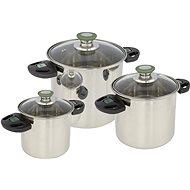 Bo-Camp Cookware set Elegance Compact 3 Stainless steel - Kempingové nádobí
