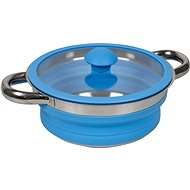 Bo-Camp Silicone Foldable Pan with Lid, Blue - Pot
