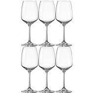 BOHEMIA CRYSTAL Sklenice na červené víno 455 ml GISELLE 6ks - Sklenice na víno