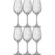 BOHEMIA CRYSTAL Sklenice na bílé víno 350ml WATERFALL 6ks - Sklenice na víno