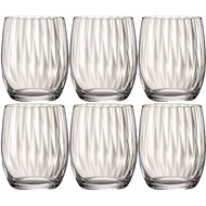 Bohemia Crystal Whiskey Glass WATERFALL 300ml 6-piece set