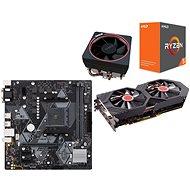 AMD akční balíček 1: VGA + MB + CPU + Chladič - Set