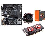 AMD akční balíček 2: VGA + MB + CPU + Chladič - Set
