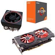 AMD akční balíček 4: VGA + CPU + Chladič - Set