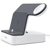 Belkin PowerHouse Charge Dock pro Apple Watch + iPhone bílý/černý - Nabíjecí stojánek