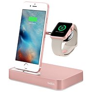 Belkin Valet Charge Dock pro Apple Watch + iPhone, rose gold - Nabíjecí stojánek