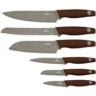Berlingerhaus Sada kuchyňských nožů 6ks Granit Diamond Line hnědý - Sada nožů