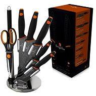 Berlingerhaus Sada kuchyňských nožů 8ks Granit Diamond Line černý - Sada nožů