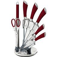 BerlingerHaus Sada nožů ve stojanu 8ks Infinity Line červená - Sada nožů