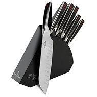 BerlingerHaus Sada nožů v dřevěném stojanu Phantom Line 6ks - Sada nožů