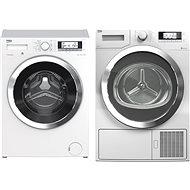 BEKO WTV 8735 XC0ST + BEKO DPY 8506 GXB1 - Set pračka a sušička