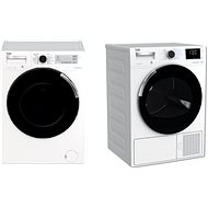 BEKO PWTV8644CSX0 + BEKO DH8644CSDRX - Washer and dryer set