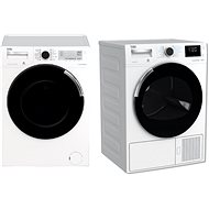 BEKO PWTV7644CSX0 + BEKO DH8644CSDRX - Washer and dryer set
