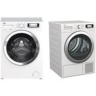 BEKO WTV 8735 XC0ST + BEKO DE 8635 CSDRX0 - Set pračka a sušička