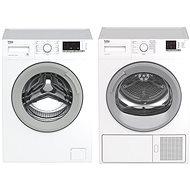 BEKO WTV 8612 XSW + BEKO DS8512GX - Set pračka a sušička