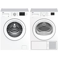 BEKO WRE 7612 XWW + BEKO HDF 7412 CSRX - Washer and dryer set