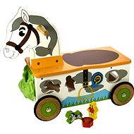 Dřevěný motorický vozík Koník - Herní set