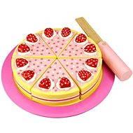 Dřevěný krájecí dort s jahodami - Herní set