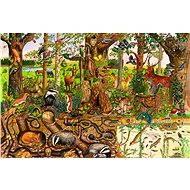 Dřevěné puzzle - Lesní svět - Puzzle