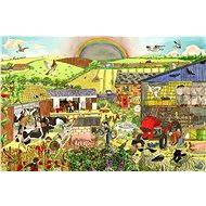 Dřevěné puzzle - Farma - Puzzle