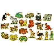 Dřevěné figurky - Magnetky z džungle 20ks - Figurky