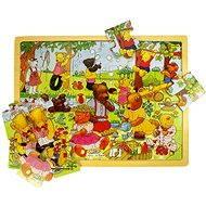 Dřevěné puzzle - Medvědí piknik - Puzzle