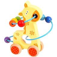 Motorický labyrint na kolečkách - Žirafa - Didaktická hračka