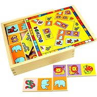 Wooden Dominoes - Animals - Board Game