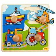 Dřevěné vkládací puzzle - Doprava - Puzzle
