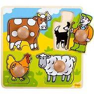 Dřevěné vkládací puzzle - Farma - Puzzle