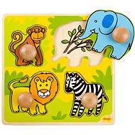 Dřevěné vkládací puzzle - Safari - Puzzle