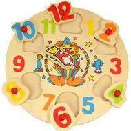 Dřevěné vkládací puzzle - Hodiny s klaunem - Puzzle