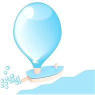 Dřevěná loďka na balónkový pohon - Hračka do vody