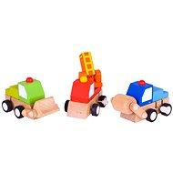 Barevná autíčka na natahování - Sada autíček