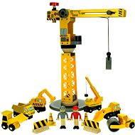 Bigjigs Jeřáb a stavební stroje - Herní set