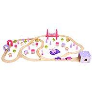 Bigjigs Wooden Fairy Town Train Set - Train Set