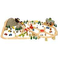 Bigjigs Dřevěné vláčkodráhy - Horská cesta 112 dílů - Vláčkodráha