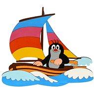 Dřevěná dekorace - Krteček na lodi - Dekorace do dětského pokoje