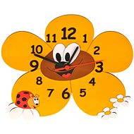 Dětské dřevěné hodiny - Kopretiny - Hodiny do dětského pokoje