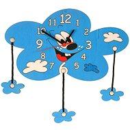 Dětské dřevěné hodiny - Mrak s mráčky - Hodiny do dětského pokoje