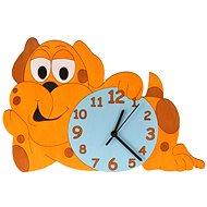 Dětské dřevěné hodiny - Pejsek - Hodiny do dětského pokoje