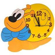 Dětské dřevěné hodiny - Šnek - Hodiny do dětského pokoje