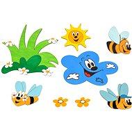 Dřevěná dekorace - Sestavy dekorací louka a včelky - Dekorace do dětského pokoje