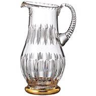 Bohemia Crystal Ručně broušený džbán Daisy Line Gold 1300ml - Džbán