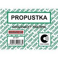 BALOUŠEK Propustka - Tiskopis