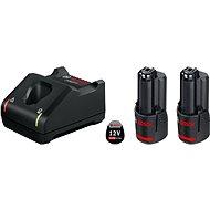 BOSCH 2× GBA 12V 2.0Ah + GAL 12V-40 - Nabíječka a náhradní baterie